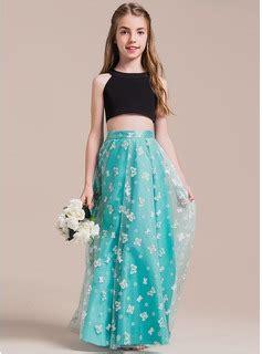 junior bridesmaid dresses color jade a line princess scoop neck floor length tulle junior