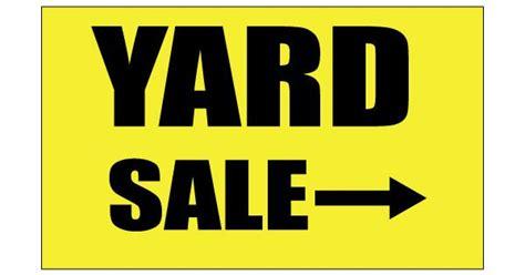 printable yard sale signs printable yard sale sign yellow color free printable