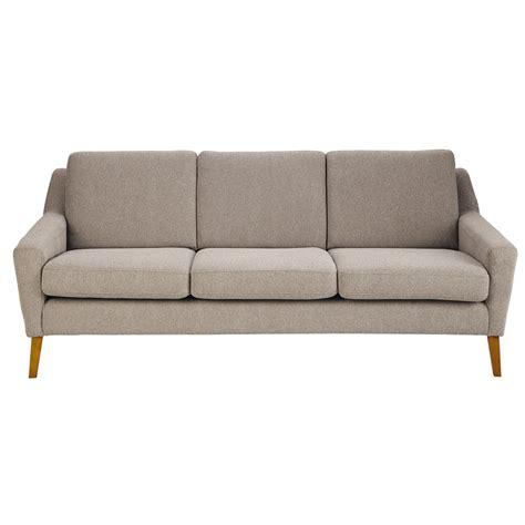 sofa maison du monde 3 sitzer polsterbank aus stoff graubeige mad mad