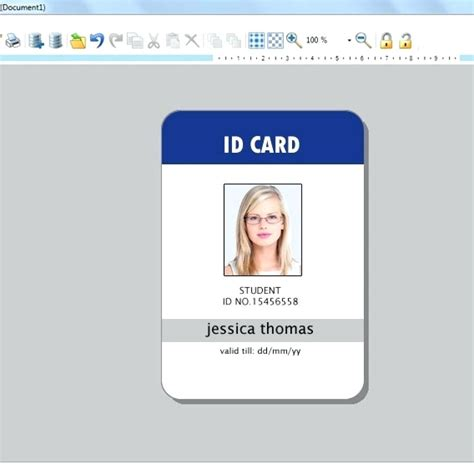 employee id card template template employee identification card template
