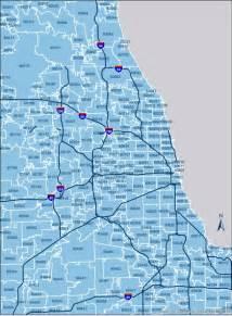 Chicago Area Codes Map by Chicago Zip Codes Chicago Neighborhood Zip Codes