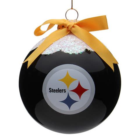 Pittsburgh Steelers Ornaments - pittsburgh steelers 4 quot snowcap glass ornament