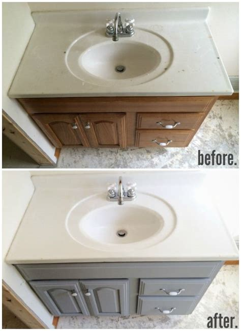 how to redo bathroom cabinets for cheap painted bathroom vanity michigan house update paint