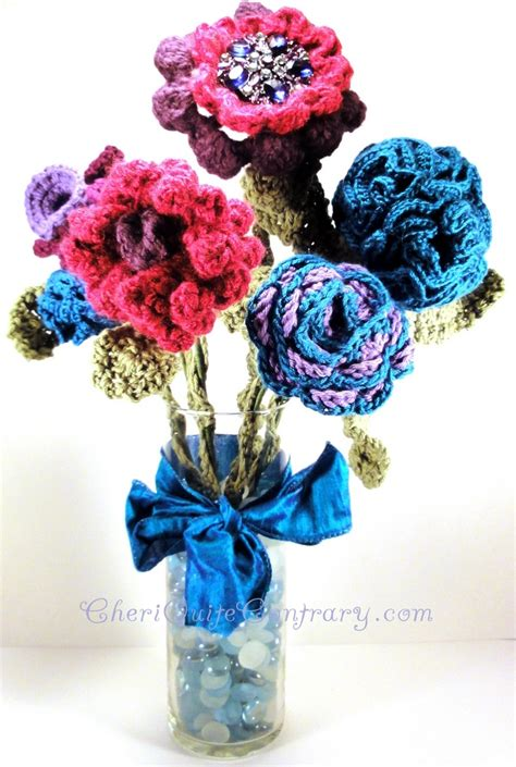 knitted flower bouquet 17 best images about crochet flower bouquets on