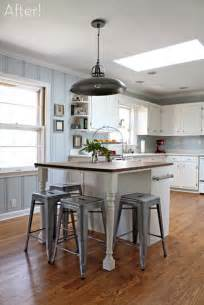 kitchen island makeover via curbly