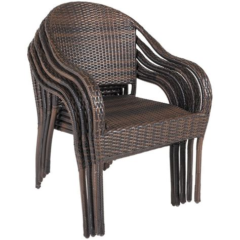 stackable resin wicker chairs stack resin wicker arm chair z gls chr gls 60223 10