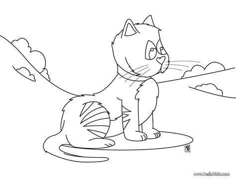 funny cat coloring pages hellokids com
