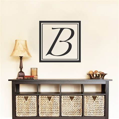 initial wall stickers square initial wall decal monograms initial wall
