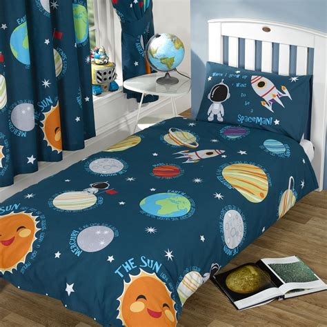 Solar System Crib Bedding Spaceman Space Bedding Solar System Planets Crib Toddler Or Duvet Comforter Cover Set