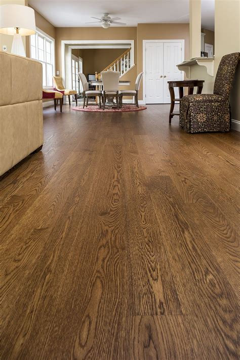 carlisle wood floors tung wide plank white oak finished with medium brown stain and