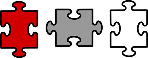 3 puzzle pieces template puzzle pieces connected clip at clker vector