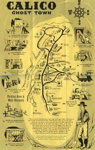 ghost towns in california map calico ghost town ephemera