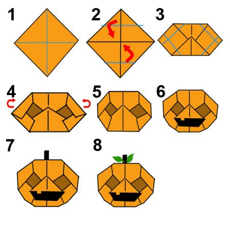 printable origami pumpkin instructions here s how to make an origami halloween origami blumen