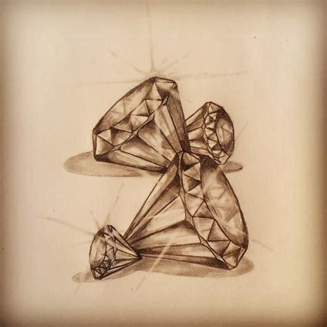 tattoos of diamonds diamonds sketch by ranz