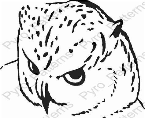 owl bird pyrography wood burning pattern printable stencil