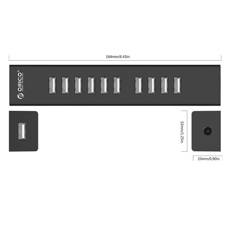 Usb Hub 10port 2 0 Black orico usb hub 2 0 10 port h1013 u2 black