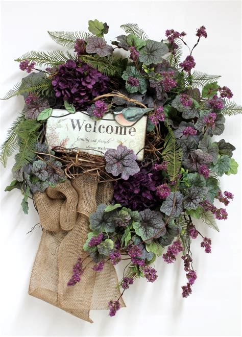 country welcome wreath front door wreath wreath