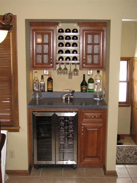 Small Built In Bar Custom Bar By Sahn Crafts Llc Custommade