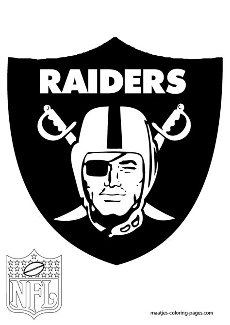 oakland raiders free coloring pages