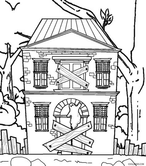 Haunted Mansion Coloring Pages Haunted House Color Page