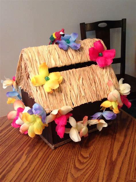 Tiki Hut In A Box Tiki Hut Card Box Made From A Cardboard Box Painted
