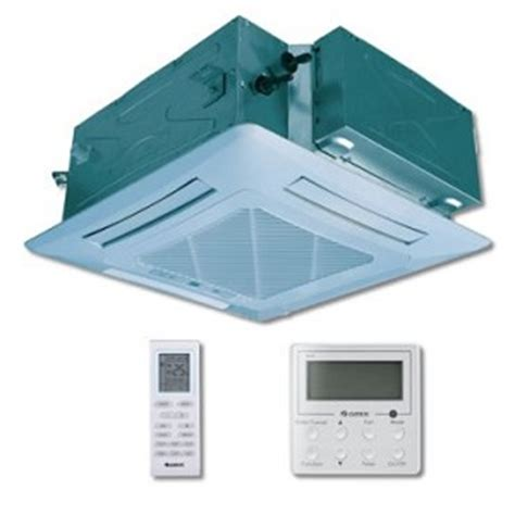 Gree Ac Cassette 3 Pk Gkh 24 K3h Comfortable Airflow Defrost Sys gree u match 24 000 btu 16 seer ceiling cassette recessed