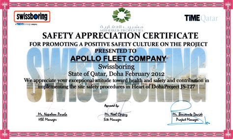 safety recognition certificate template choice image