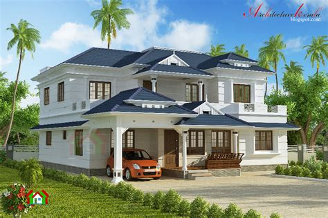 home design for 3000 sq ft 3000 square feet house plan architecture kerala