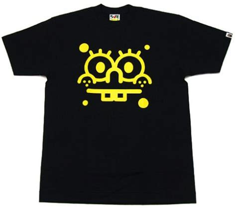 Kaos T Shirt Bape X Spongebob Yellow bape x spongebob new baby milo t shirt freshness mag