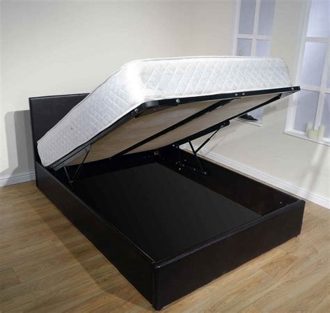 Storing A Memory Foam Mattress by Special Offer Leather Storage Bed Inc Memory Foam Mattress
