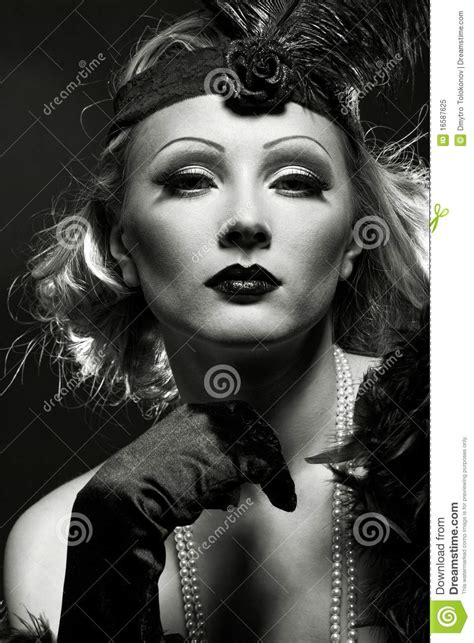 Make Up Marlene als marlene dietrich royalty vrije stock foto beeld