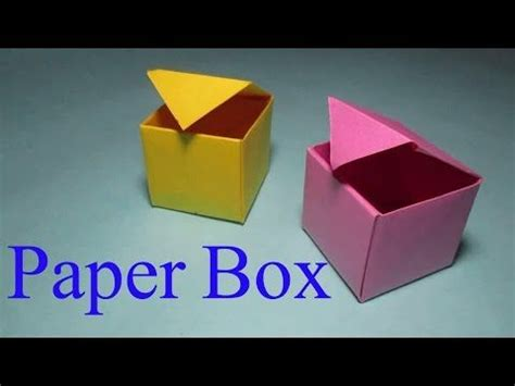 How To Make A Sticker Out Of Paper - paper gift box diy how to make a paper box with