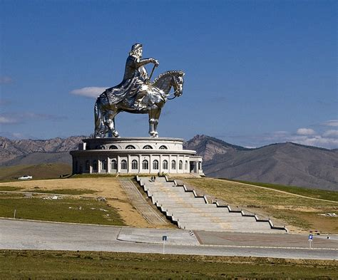 genghis khan equestrian statue wikipedia genghis khan rides again huge statue of emperor dominates