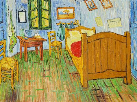 bedroom at arles replica of van gogh s bedroom as accommodation in chicago