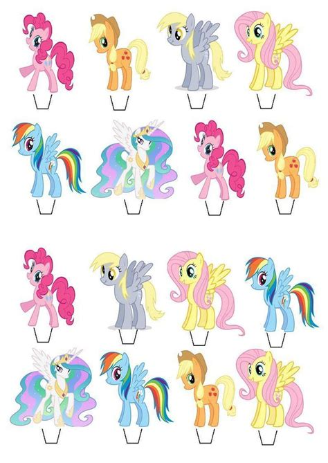 Cupcake Stand Pony Cupcake Tier My Pony Cilukba my pony stand up cupcake cake toppers edible paper decorations crafts ponies and paper