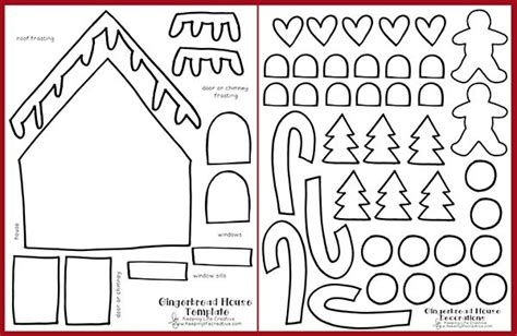 printable gingerbread house craft keeping life creative
