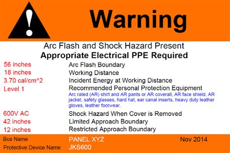 arc flash policy template custom arc flash warning label printing