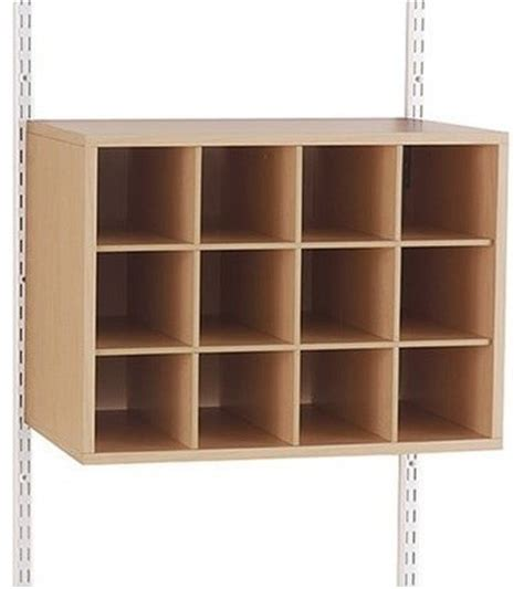 configurations shoe cubby unit contemporary closet