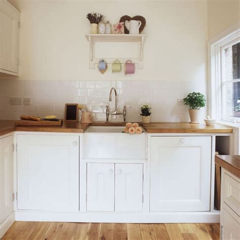white and wood kitchen small kitchen design ideas