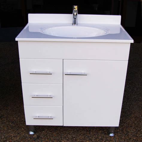 Metal Leg Bathroom Vanity Daedalus Wpl750l 750mm Bathroom Vanity Unit With Australian Made Acrylic Basin On Metal Legs
