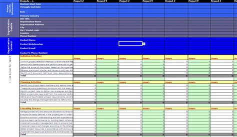 Rex S Pages Sle Pmp Application Spreadsheet V3 Pmp Application Template