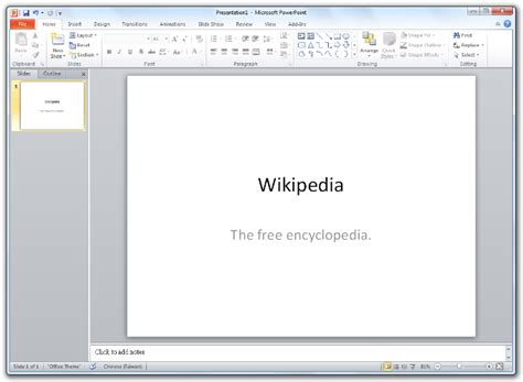 Microsoft Powerpoint Software Wiki The Free Software Free Powerpoint For Windows 7