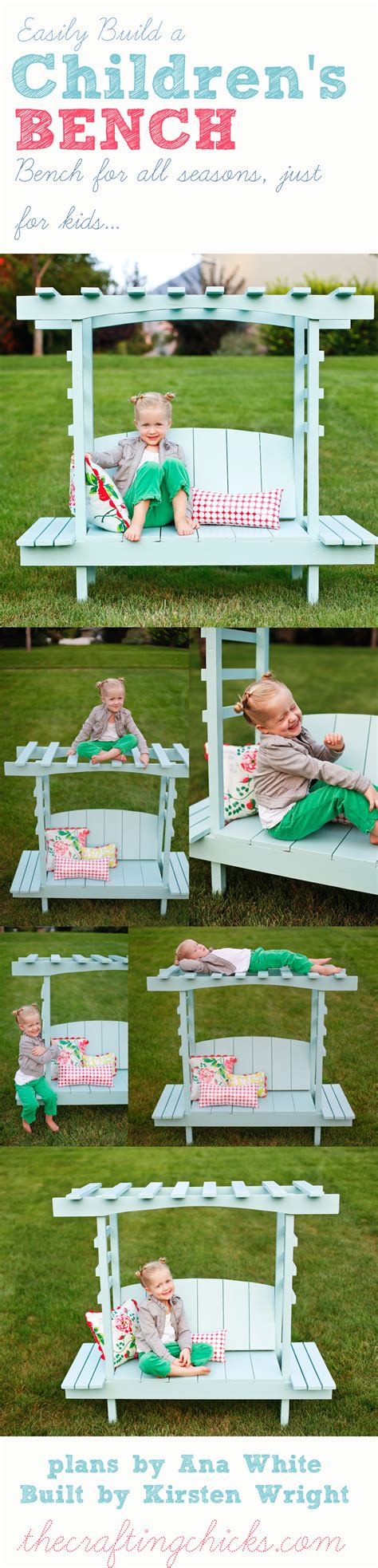 benches for kids build a children s arbor bench ana white the crafting chicks