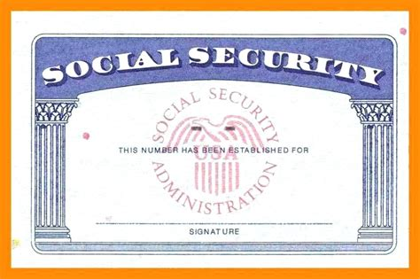 social security card templates template social security card template