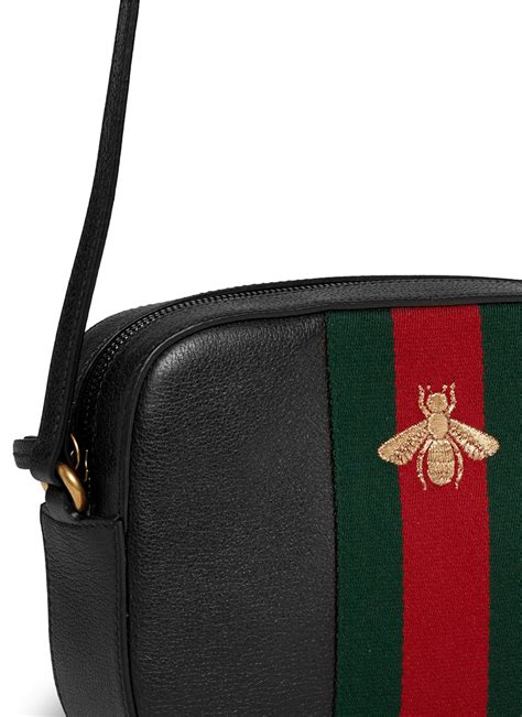 Gucci Crossbody 372180 Set 2 In 1 lyst gucci webby bee embroidery web leather crossbody bag in