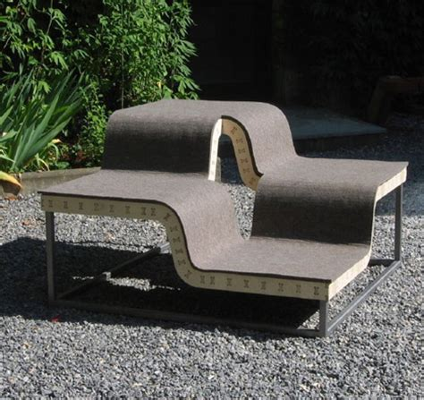designer garden bench curved outdoor benches for modular conversationalists