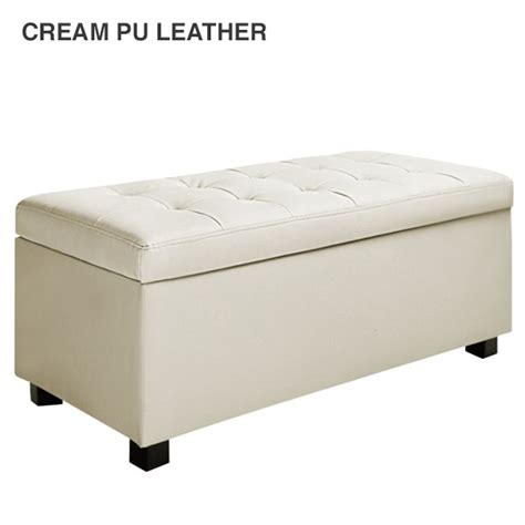 fabric ottoman storage bench fabric pu leather bench storage ottomans 9 colours buy more