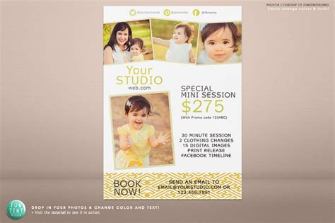 5x7 mini session marketing flyer flyer templates on