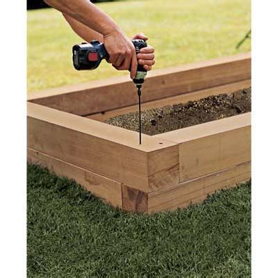 How To Build A Raised Planter Box by Assemble The Bed S Walls How To Build A Raised Planting