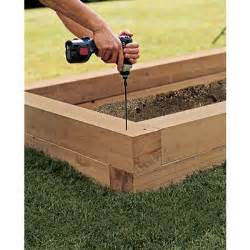 Building Planter Beds by Assemble The Bed S Walls How To Build A Raised Planting